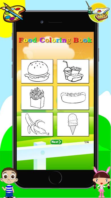食品着色书 - 绘图绘画为孩子免费游戏