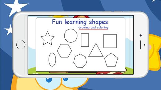 有趣的形状学习绘画和着色早期教育游戏