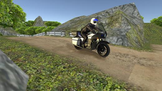 OffRoad警察自行车运输 - 摩托车驾驶