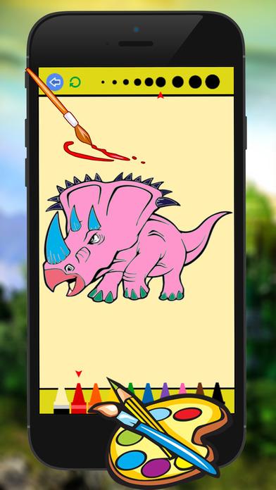 恐龙图画书 - 恐龙绘画的儿童游戏