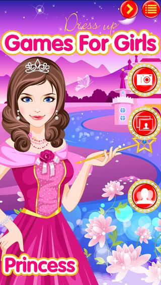 趣味公主时尚装扮——女孩专属游戏公司出品的免费游戏 (Princess DressUp: Beauty, Style and Fashion - Deluxe Game by Games For Girls, LLC)