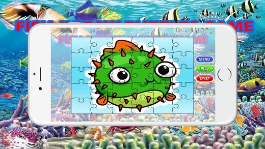 海水魚水族館拼圖遊戲為孩子