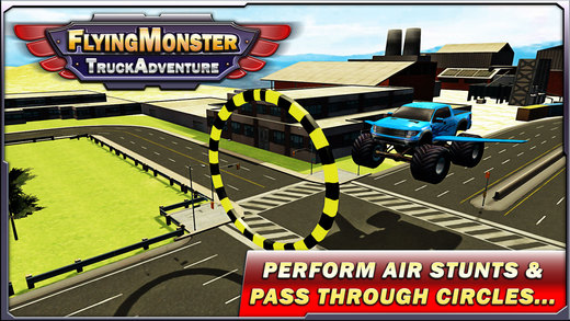 飞行怪物卡车冒险和卡车驾驶