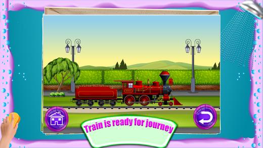 火车洗沙龙 - 清理和修复生锈和凌乱的机车在这个游戏中洗涤