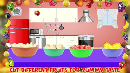 水果沙拉制造商 - 烹饪厨师游戏