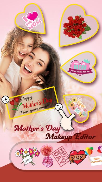 母亲节装扮贴图相机专业版 - 浪漫的边框+精美的贴图,给妈咪一个爱的纪念