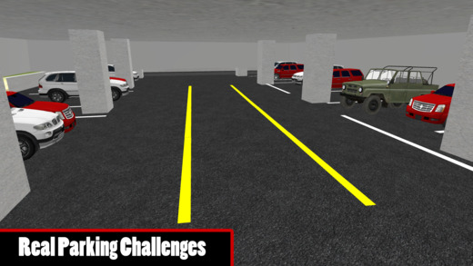 多层吉普车停放和疯狂司机模拟器