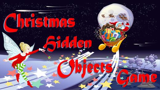 圣诞隐藏的对象游戏的孩子