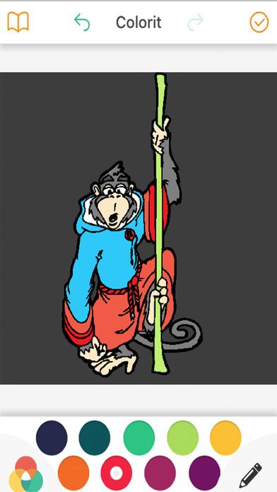 猴子着色书为孩子