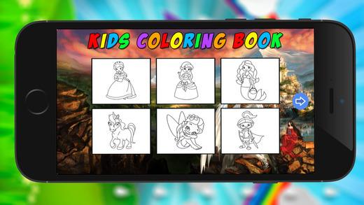 公主图画书 - 惊人的平局涂料和色彩游戏高清
