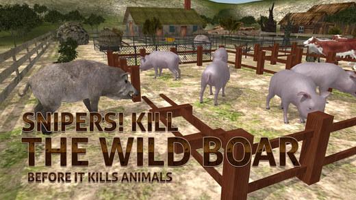 农场野猪的猎人模拟器 - 牛保安与狙击手射击模拟器游戏