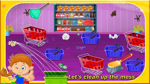超市维修和清洁向上凌乱店清洗