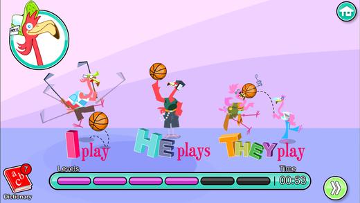 儿童英语 10:Mingoville中的'运动项目和媒体'-这个有趣且益智游戏立志于教给儿童6-12个与此题目相关的英语动词, 名词和副词而开发.其中更包含25种不同语种的字典和互动帮助儿童更好地学习发音