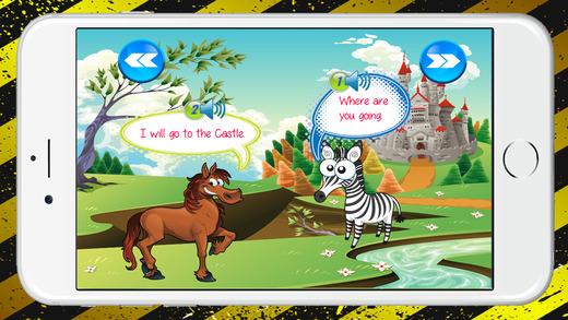 初學者學習動物的談話和詞彙