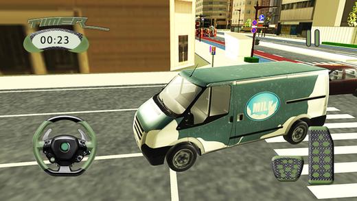 牛奶送货面包车城市驾驶游戏
