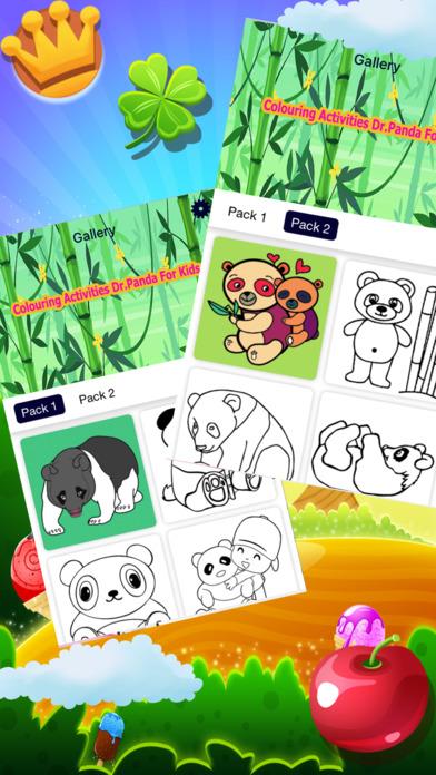 着色游戏 活动 熊猫博士 为孩子