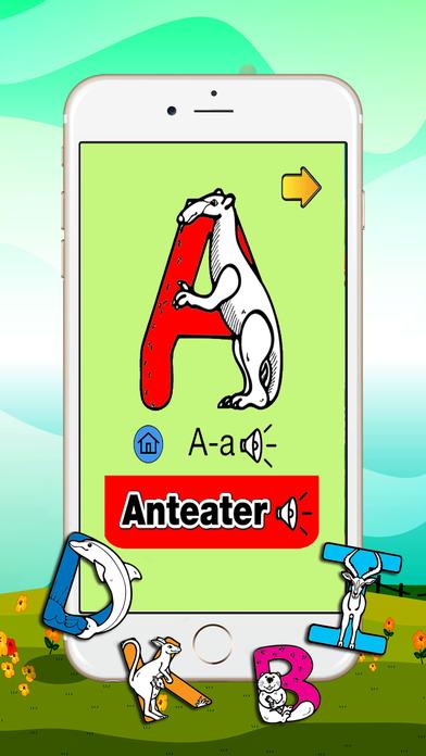 英语ABC关于动物的学龄前儿童
