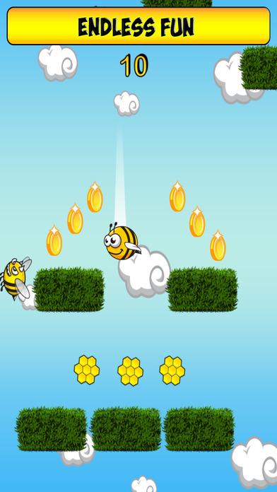 蜜蜂可以反弹,并跳转 - 无尽的冒险免费