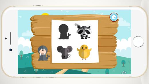 形状动物儿童学习游戏