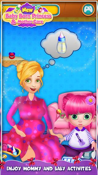 新生婴儿出生的公主和母亲护理