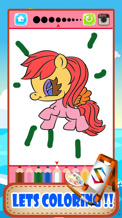 小马动物着色页小书绘画