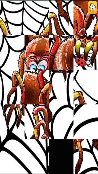 可怕的湿软蜘蛛 - 秘密图片滑动拼图 免费