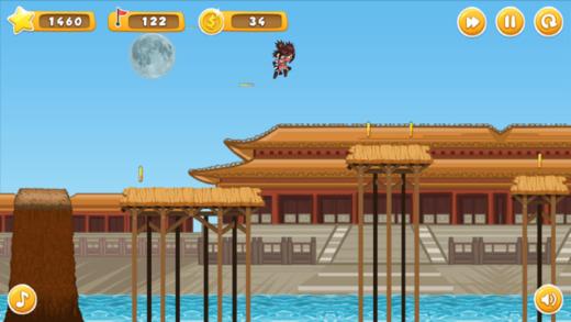 运行忍者女孩 - 跑和跳盆景风格