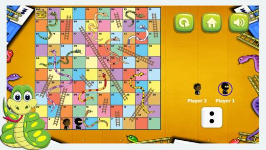 蛇和梯子游戏 -  2名球员和1个玩家