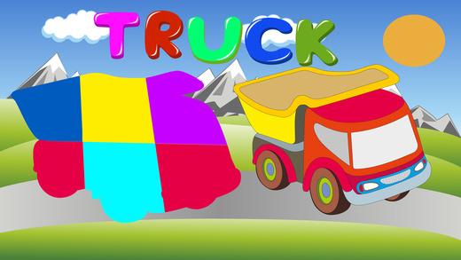 车辆益智游戏的孩子们!