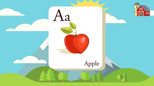 ABC 词汇拼图学习游戏的孩子