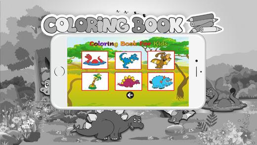 图画书(恐龙):着色页与学习教育游戏为孩子们免费!