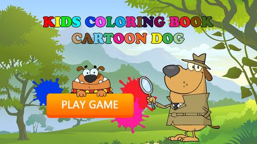 免费图画书游戏为孩子 - 玩画可爱的小狗