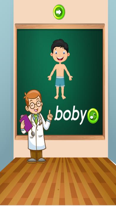 身体英语单词:教育游戏的孩子