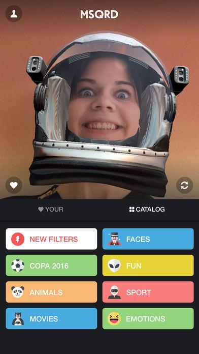 MSQRD — 适合视频自拍的实时滤镜和换脸应用