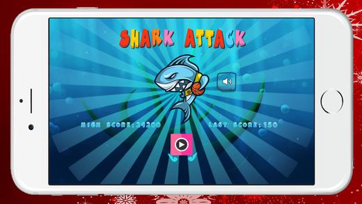 鲨鱼攻击游戏的孩子逃生