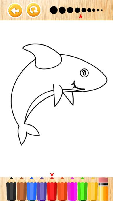 鲨鱼海洋图画书游戏的孩子