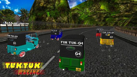 Tuk Tuk Racing (玩转3D自动Rikshaw赛车游戏)