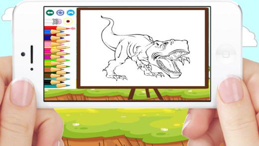 着色书恐龙T雷克斯游戏的孩子免费