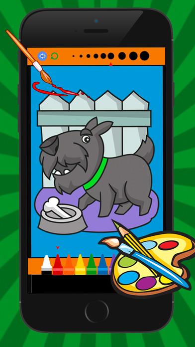 猫狗着色书为孩子的游戏