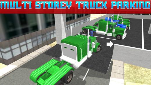 多层卡车停放和驾驶3d模拟器