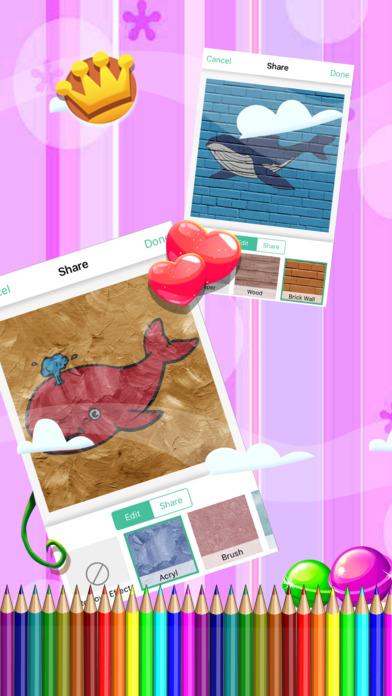 著色遊戲海豚和大鱼冒险对于孩子