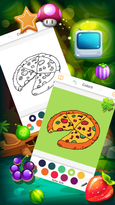 著色遊戲疯比萨对于孩子