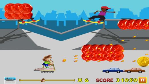 最逗人喜爱的滑板女孩 - 至尊公园冲浪闪电战