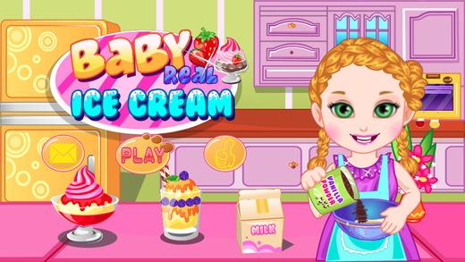 亲手做冰淇淋儿童游戏