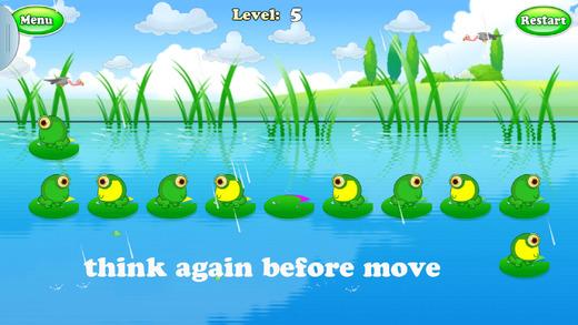 青蛙跳荷叶解谜