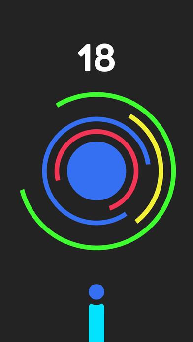 躲避球 - 别击中彩色圆圈