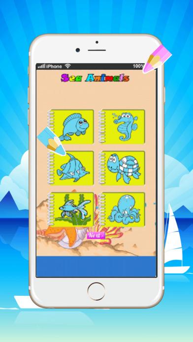 可爱的海洋动物着色书:学画画和绘图容易
