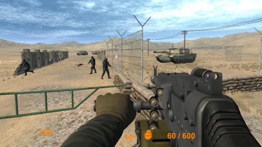 现代沙漠突击队战斗射击游戏冲突