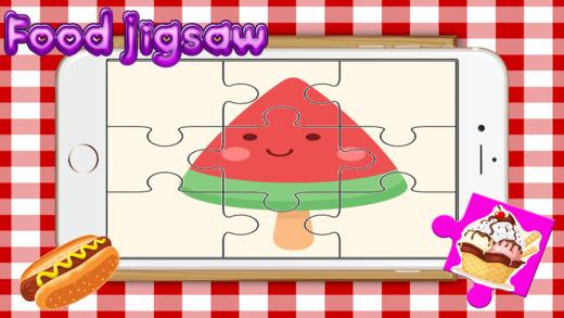 食品美味之谜为成人 - 学习水果拼图游戏免费为孩子幼儿和学龄前儿童