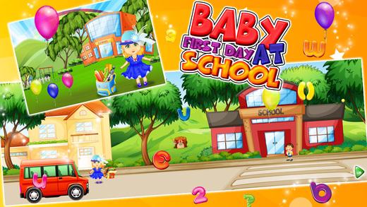 宝宝第一天在学校 - 孩子们学习与教育游戏